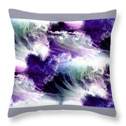 Waves Of Love - Multi Purple Teal Throw Pillow