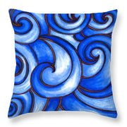 Waves Of Mercy Throw Pillow