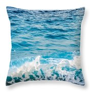 Waves Of Nice France Throw Pillow