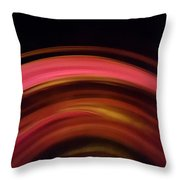 Waves Of Rose Throw Pillow