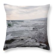 Waves Of Superior Throw Pillow