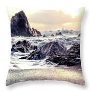 Waves Of Time Throw Pillow