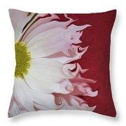 Waves Of White Throw Pillow