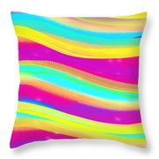 Waves Of Wishes Throw Pillow
