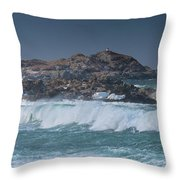 Waves On A Cloudy Day Throw Pillow