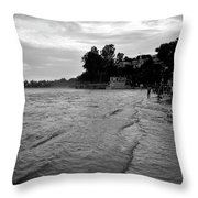 Waves On The Ganges Throw Pillow