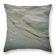 Waves On The Ice Throw Pillow