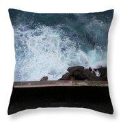 Waves On The Mediterranean Throw Pillow
