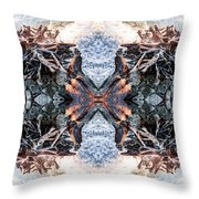 Waves Over Wood 2 Throw Pillow