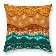 Waves Throw Pillow