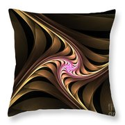 Waves With Pink Throw Pillow