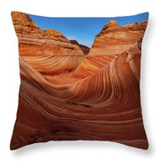 Wavescape Throw Pillow