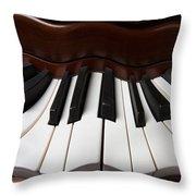 Wavey Piano Keys Throw Pillow
