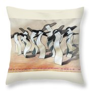Wavey Square Orchard Throw Pillow