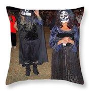 Waving Ghoul Cinematographer Halloween Casa Grande Arizona 2004 Throw Pillow