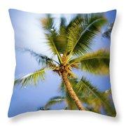 Waving Palm Throw Pillow