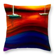 Wavy Bay  Throw Pillow