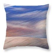 Wavy Hills Abstract. Moravian Tuscany Throw Pillow