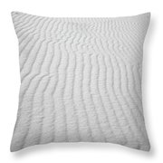 Wavy Sand Throw Pillow