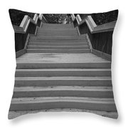 Wavy Stairs Throw Pillow