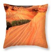 Wavy Sunset Curves Throw Pillow
