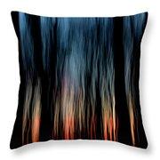 Wavy Sunset Throw Pillow