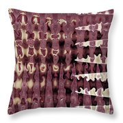 Wax Sine Throw Pillow