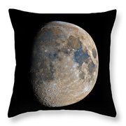 Waxing Gibbous Moon / Day 11 Throw Pillow