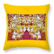 Waxleaf Privet Blooms In Autumn Tones Abstract Throw Pillow