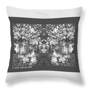 Waxleaf Privet Blooms In Black And White Abstract Poster Throw Pillow