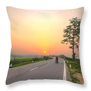 Way Back Throw Pillow