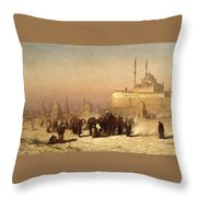 Way Between Old And New Cairo Throw Pillow