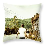 Way Of Old Travel Throw Pillow
