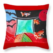 Way Of The Fish Saints Throw Pillow