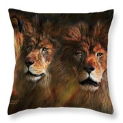 Way Of The Lion Throw Pillow