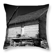Way Station French And Indian War Throw Pillow