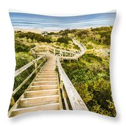 Way To Neck Beach Throw Pillow