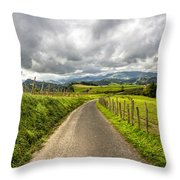 Way To Orio, Spain Throw Pillow