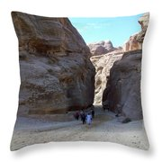 Way To Petra Throw Pillow