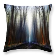 Way To The Blue... Throw Pillow