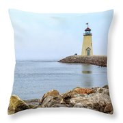 Way To The Lighthouse Throw Pillow
