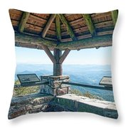 Wayah Bald Observation Tower - Macon County, North Carolina Throw Pillow
