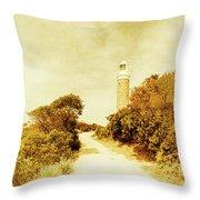 Wayback Beacon Throw Pillow
