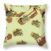 Wayback England Throw Pillow