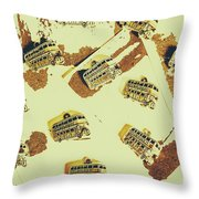 Wayback England Throw Pillow