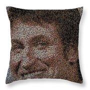 Wayne Gretzky Hockey Puck Mosaic Throw Pillow