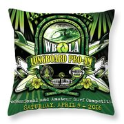 Wbla Proam 2016 Throw Pillow