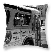Wbru-fm Bus Sign, 1975 Throw Pillow