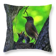We Are Hungry Throw Pillow