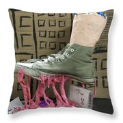 We Are The Gum We Step Throw Pillow